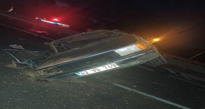 Akşehir'deki trafik kazasında iki kişi yaralandı
