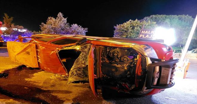 Alanya'daki orman yangınına müdahaleye gidin arazi aracı ile kamyonet çarpıştı: 2 yaralı