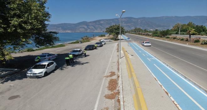 Antalya'da bayram öncesi drone destekli trafik denetimi
