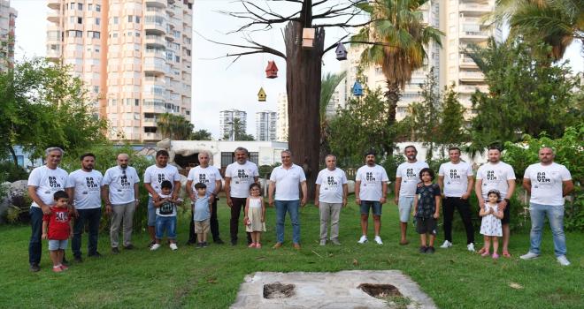Antalya'da eğitim verilen babalar sertifikalarını aldı
