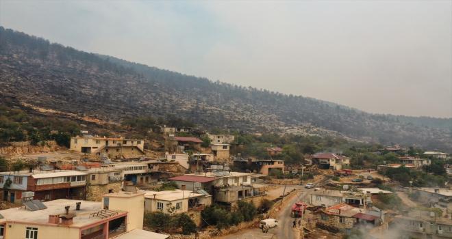 Antalya'da orman işçilerinin şehit olduğu yangın alanı havadan görüntülendi