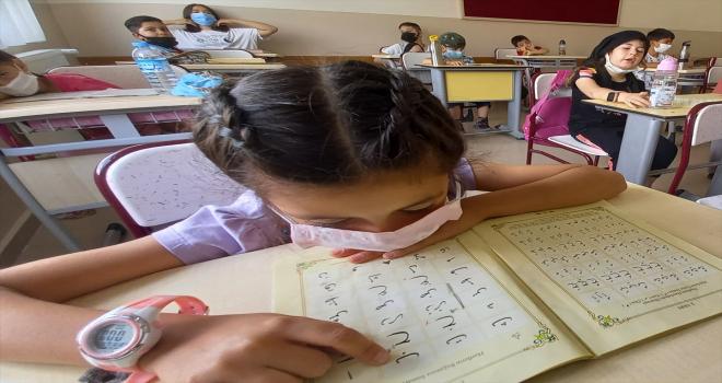 Beypazarı'nda Kur'an kurslarında yüz yüze eğitim sürüyor