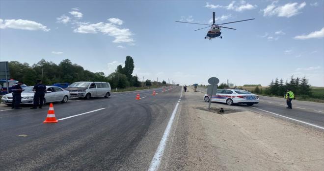 Eskişehir'de helikopterli trafik denetiminde 31 sürücüye ceza kesildi