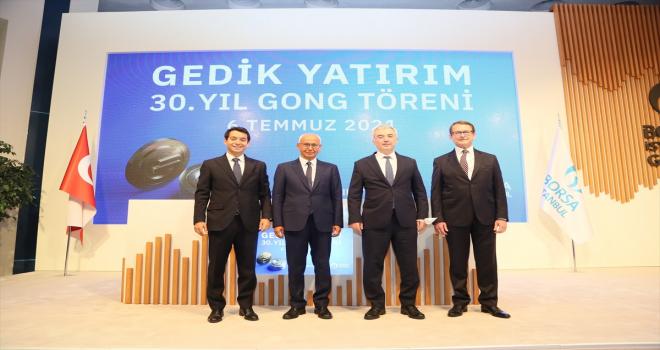 Gedik Yatırım, 30. yılını Borsa İstanbul'da gong töreni ile kutladı