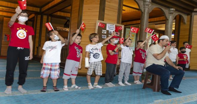 Kahramankazan'da Kuran kurslarında 15 Temmuz etkinliği düzenlendi