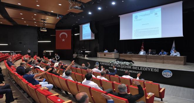Kayseri Büyükşehir Belediye Meclisi temmuz ayı toplantısı yapıldı