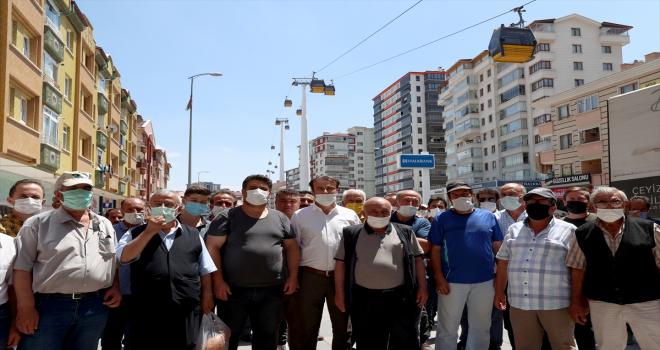 Keçiören sakinleri, Kovid-19 salgını sürecinde ara verilen teleferik hizmetinin başlatılmasını istiyor