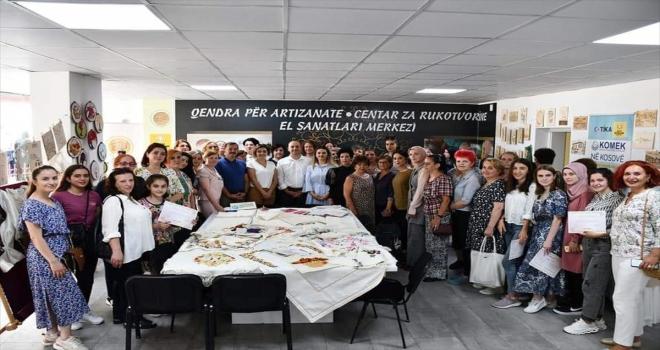 Konya Büyükşehir Belediyesinin Kosova'da açtığı KOMEK'ten 216 kişi sertifikalarını alarak mezun oldu