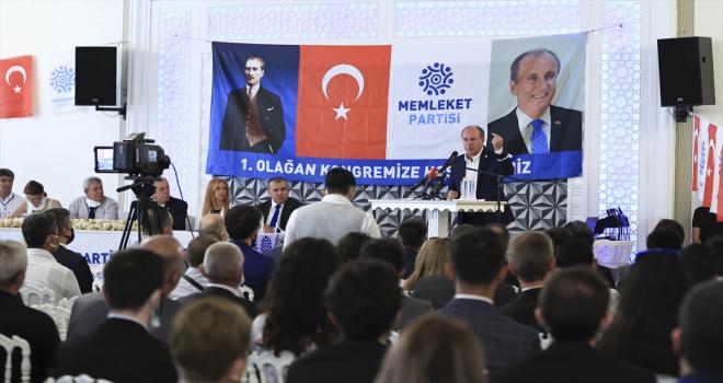 Memleket Partisi Genel Başkanı İnce, partisinin 1. Olağan Ankara İl Başkanlığı Kongresi'nde konuştu: