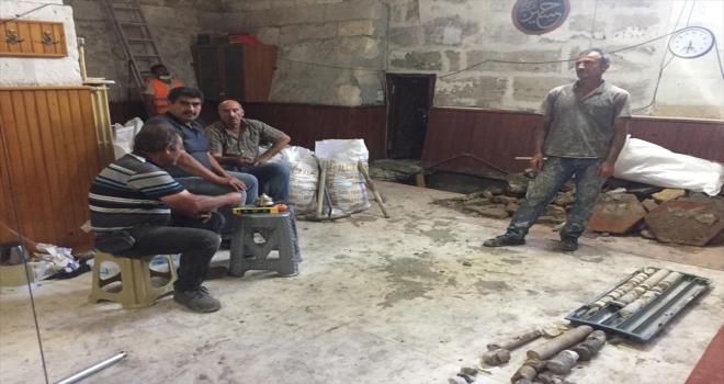 Sivas'taki tarihi Ulu Cami'nin minaresinin korunmasına yönelik çalışmalar sürüyor