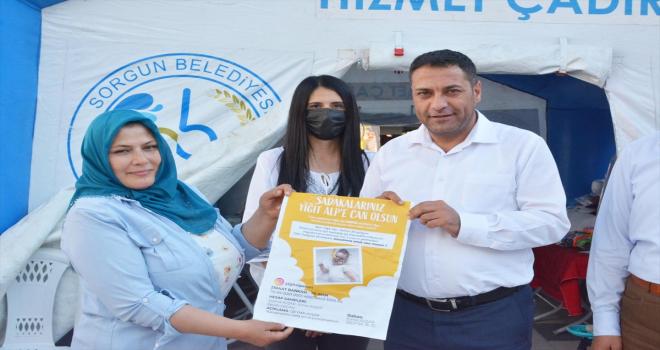 Sorgun Belediye Başkanı Ekinci'den SMA hastası Yiğit Alp'e destek