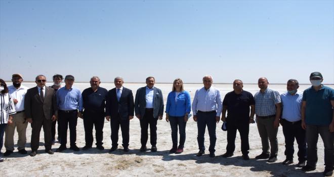 TBMM Küresel İklim Değişikliği Araştırma Komisyonu, Seyfe Gölü'nde kuraklığın etkisini inceledi
