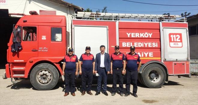 Yerköy Belediyesi Manavgat'a itfaiye ekibi gönderdi