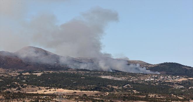Ankara Çubuk'ta çıkan orman yangınına müdahale ediliyor