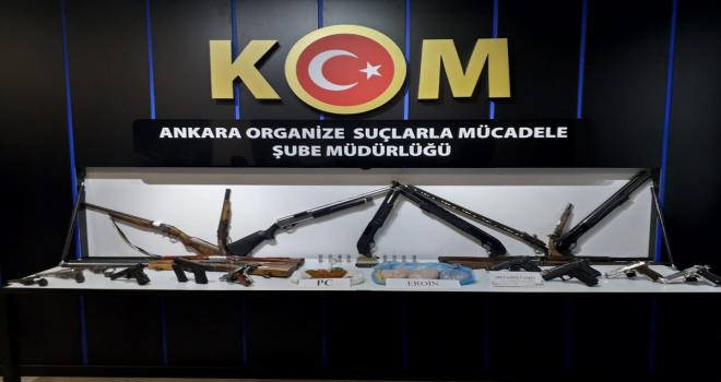 Ankara'da uyuşturucu ve silah ticareti yapan suç örgütüne yönelik operasyon: 29 gözaltı