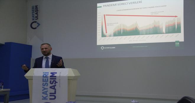 Kayseri Büyükşehir Belediyesi Ulaşım AŞ Genel Müdürü Gündoğdu'dan bilgilendirme toplantısı