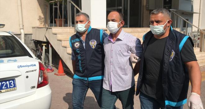 Kayseri'de pencereden düşen kadını aşağı ittiği belirlenen zanlı yakalandı