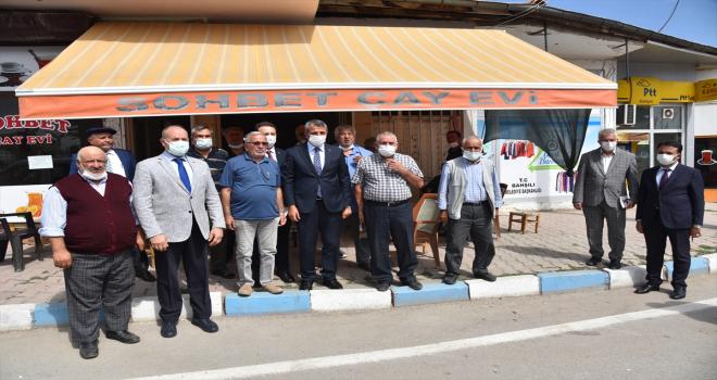 Kırıkkale Valisi Yunus Sezer, Bahşılı'da veda ziyaretlerinde bulundu