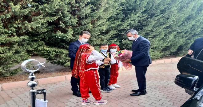 Kırıkkale Valisi Yunus Sezer veda ziyaretlerini sürdürüyor