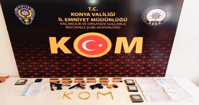 Konya'da suç örgütüne yönelik operasyonda 13 şüpheli gözaltına alındı