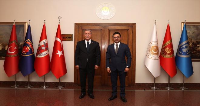 Milli Savunma Bakanı Akar, AA Genel Müdürü Karagöz'ü kabul etti