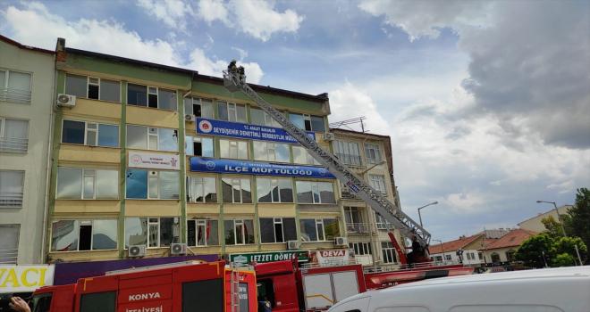Seydişehir'de müftülük binasında çıkan yangın söndürüldü