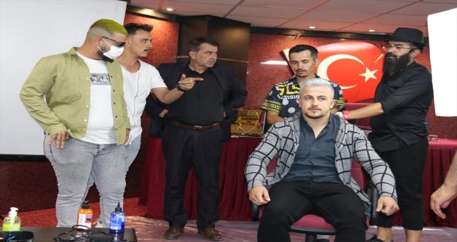 Sivas'ta erkek kuaförlere