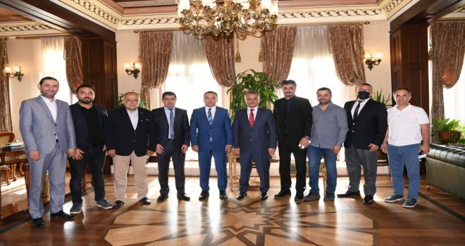 AGC Başkanı İdris Taş, Antalya Valisi Ersin Yazıcı'yı ziyaret etti