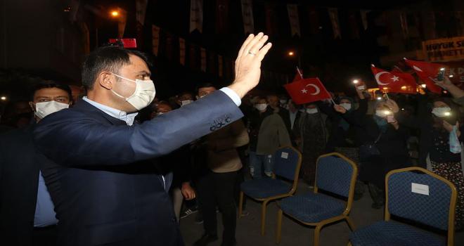 Çevre ve Şehircilik Bakanı Kurum, Konya'nın Hüyük ilçesinde konuştu: