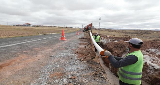 KASKİ, Bünyan ve Sarıoğlan'da terfi hattı imalatı gerçekleştiriyor