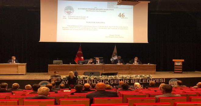 Kayseri Büyükşehir Belediyesinin ekim ayı meclis toplantısı yapıldı