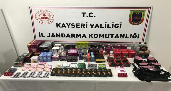 Kayseri'de  kaçak cinsel uyarıcı haplar ele geçirildi