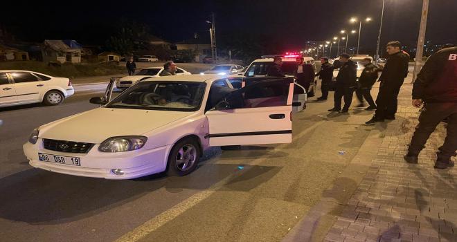 Kayseri'de polisten kaçan şüpheli kovalamaca sonucu yakalandı
