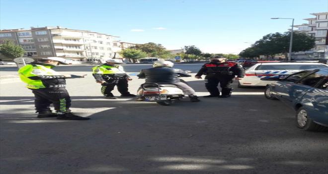 Kırşehir'de motosiklet ve motorlu bisiklet denetimi yapıldı