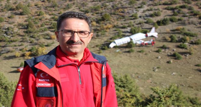 Konya'da uçak kazası tatbikatı gerçeğini aratmadı