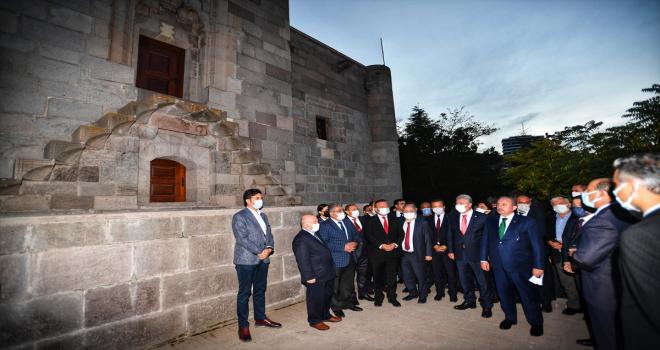 TBMM Başkanı Mustafa Şentop, Çankırı'da Taş Mescit'i ziyaret etti