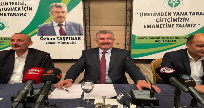 UHK Başkanı Taşpınar, Konya Pancar Ekicileri Kooperatifi başkanlığına adaylığını açıkladı