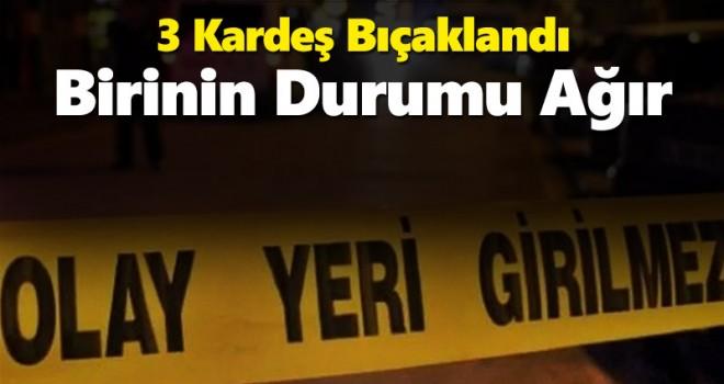Karaman'da Bıçaklı Kavga! 3 Kardeş Yaralı