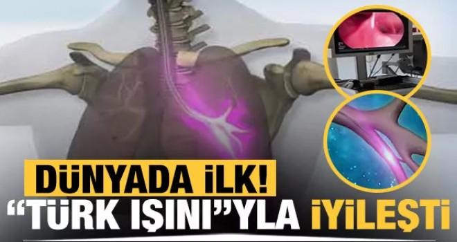 Dünyada ilk! Türk ışını tedavisiyle iyileşti