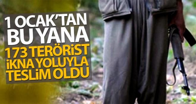 1 Ocak'tan bu yana 173 terörist ikna yoluyla teslim oldu