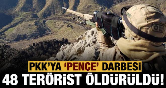 Bakan Akar Duyurdu: 48 Terörist Öldürüldü