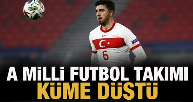 A Milli Futbol Takımı küme düştü