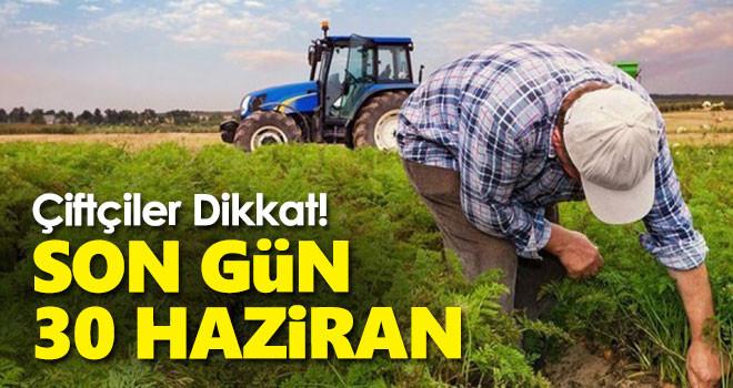 Çiftçi Kayıt Sistemi'ne başvuru için son haftaya girildi