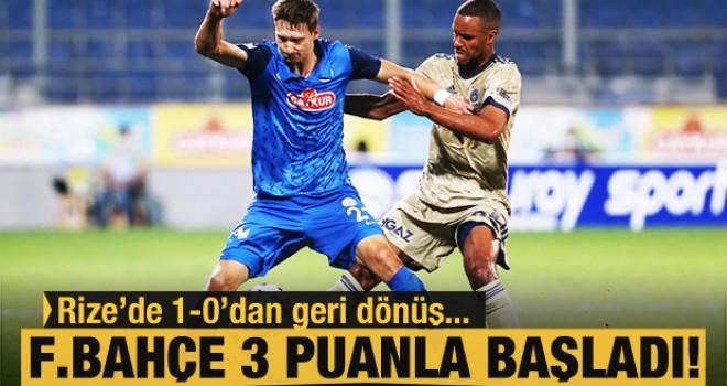 Fenerbahçe 3 puanla başladı!