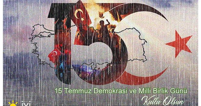 Başkan Hatipoğlu'nun 15 Temmuz Demokrasi ve Milli Birlik Günü Mesajı