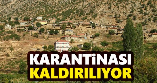 Karaman'da bir köyün karantinası kaldırılıyor