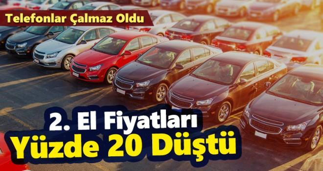 İkinci el araçlarda fiyatlar yüzde 20 düştü