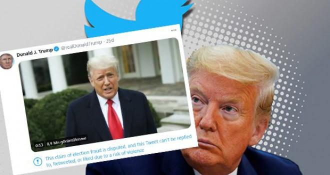 Twitter'dan Trump'a sansür!