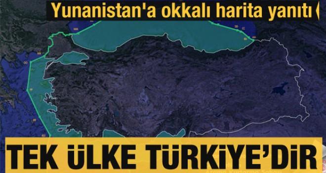 Yunanistan'a okkalı harita yanıtı: Tek ülke Türkiye'dir!
