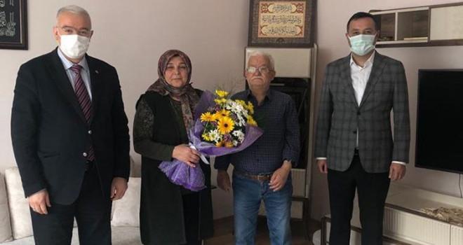Başkanlar şehit ailesi ziyaretlerine devam ediyor